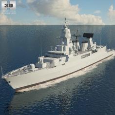 Sachsen class frigate 3D Model