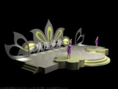 3DS Max 2014 Stage Concert 1 3D Model