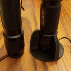 Tactical Flashlight Tailstand 3D Print Model