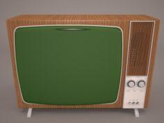 Retro TV and radio reciever 3D Model