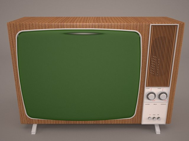 Retro TV and radio reciever 3D Model