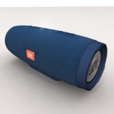 JBL Charge 3 Blue Bluetooth Portable Speaker 3D Model