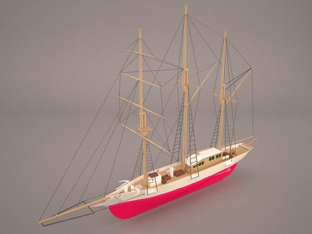 Amphi Boat 3D Model