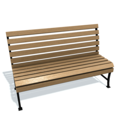Usual bench A Free 3D Model