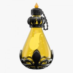 Magic Potion Yellow 3D Model