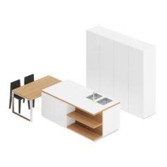 Kitchen Furniture Set 20 3D Model