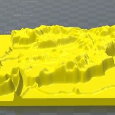 Iberian mountain range, mountain chain spain 3D Print Model
