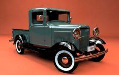FORD MODEL B PICKUP 1932 3D Model