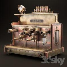 steampunk coffee machine                                      3D Model