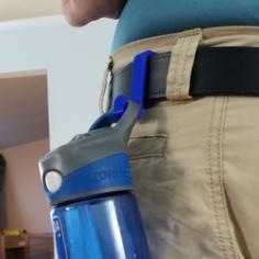 Belt Clip Water Bottle Holder 3D Print Model