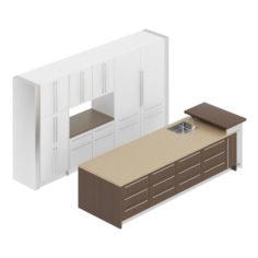 Kitchen Furniture Set 18 3D Model