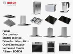 Bosch Kitchen Appliance Collection 14 models 3D Model
