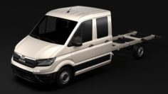 MAN TGE Chassi DoubleCab L3 2017 3D Model