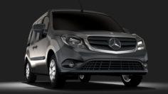 Mercedes Benz Citan Van L2 2017 3D Model