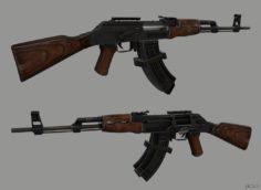 ak-47 3D Model in  MAX,  FBX,  C4D,  3DS,  STL,  OBJ,  BLEND