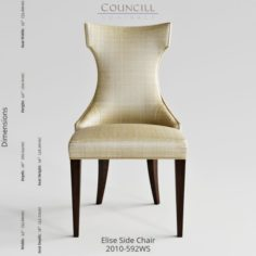 Councill Furniture Elise Side Chair 3D Model