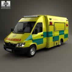 Mercedes-Benz Sprinter W903 Ambulance 2000 3D Model