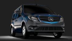 Mercedes, Benz, Citan, Van, L3, 2017 3D Model