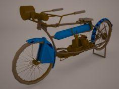 Harley Davidson 1912 Motorcycle 3D Model