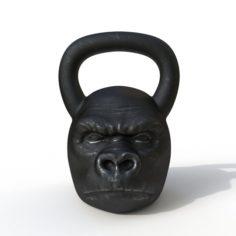 Kettlebell monkey 3D Model