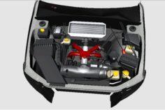 3D Engine for Subaru Impreza WRX STi 08 3D Model
