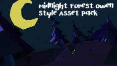 Midnight Forest Owen Styled Asset Pack 3D Model