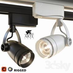 Arte Lamp Track Lights A5910PL-1 Black and White                                      3D Model