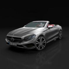 Mercedes-Benz S-Class Cabriolet 2017 3D Model