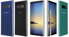 Samsung Galaxy Note 8 All Colors 3D Model