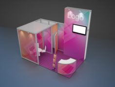 Exhibition stand octanorm maxima 2 3D Model
