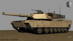 Abrams M-1 A-2 USA MBT 3D Model