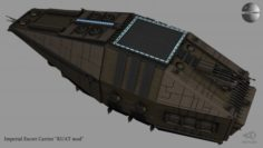 Imperial Escort Carrier KUAT mod 3D Model