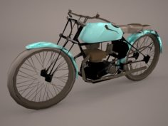 1921 classic motorcycle 3D Model