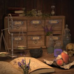 Alchemist Equipment 3D Model