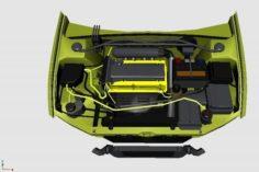 3D Engine for Mitsubishi Lancer Evolution VII 3D Model