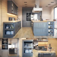 Kitchen Fortwood factory Call with decor                                      3D Model