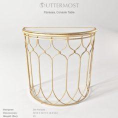 Uttermost Floressa Gold Console Table 3D Model