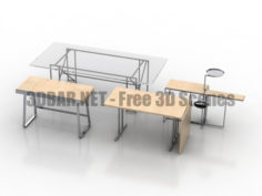 Tables DOUBLE-X LOU PEROU PEGASUS RIVOLI ClassiCon 3D Collection