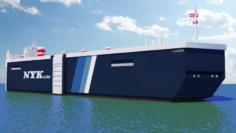 Roro Panama Ship 3D Model