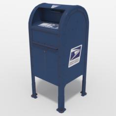 USPS Mailbox Dropbox 3D Model