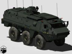 Patria XA-203 armoured personnel carrier 3D Model