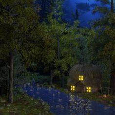 House at a Falls 3D Model