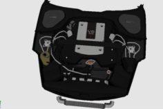 3D Engine for Nissan 350Z 3D Model