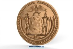 The coat of arms New York city 3D Model