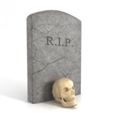 Skull and gravestone 3D Model