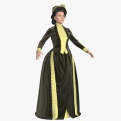 Lady of the 19th Century 3D Model