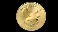 Putin Ruble Coin 3D Model
