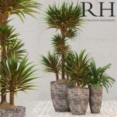 Restoration Hardware corso planter 3D Model