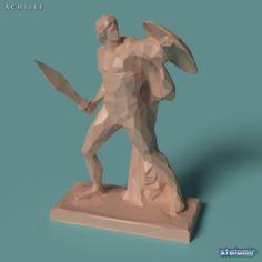 Polygonal Statue Achilles printable 3D Model