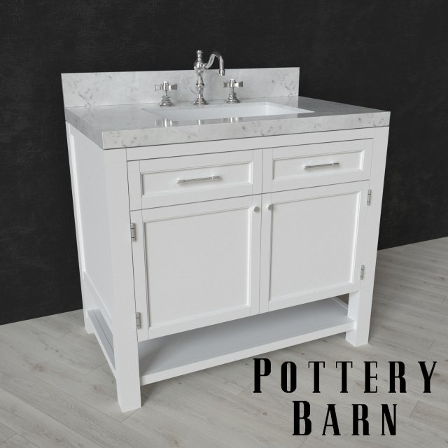 Piedmont Kitchen And Bathroom: PIEDMONT SINGLE SINK CONSOLE And LANGFORD CROSS-HANDLE
